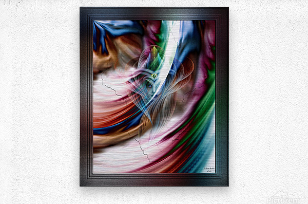 Whispers In A Dreams Of Beauty Fractal Abstract Portrait Art  Metal print