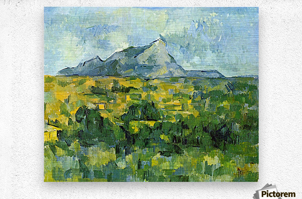 Mount St. Victiore by Cezanne  Metal print