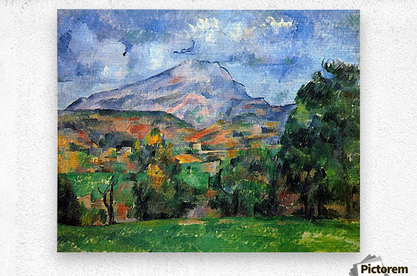 Mount St. Victoire by Cezanne  Metal print