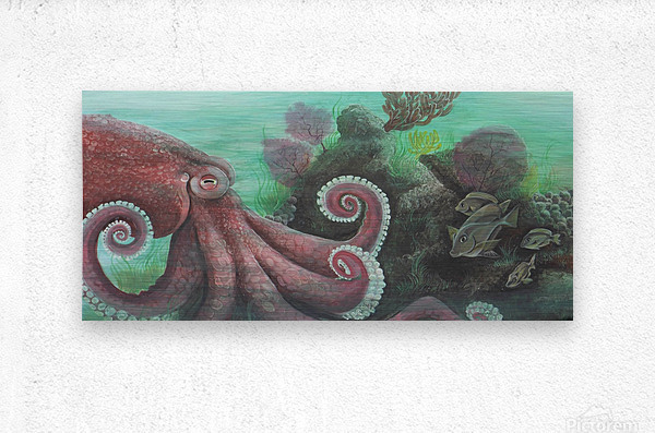 Collection WAVES-Octopus  Impression metal