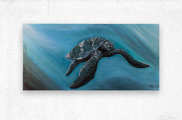 Collection WAVES-Turtle  Impression metal