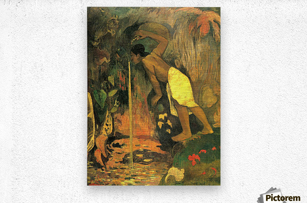 Mysterious Source by Gauguin  Metal print