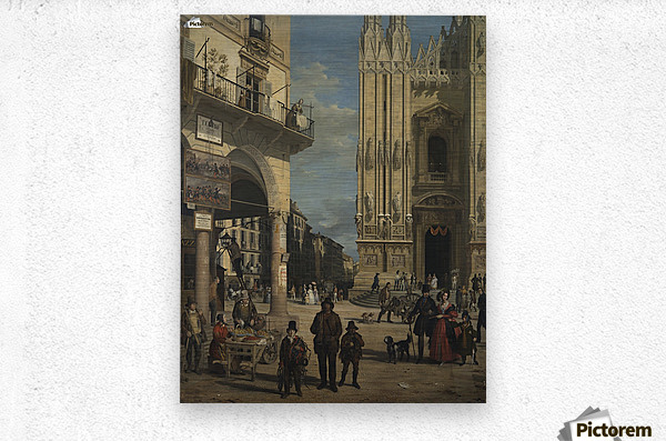 View of the Piazza del Duomo  Metal print