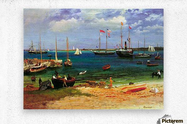 Nassau port by Bierstadt  Metal print