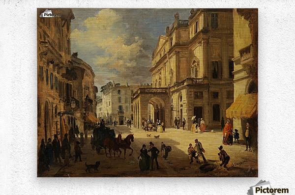 View of the Teatro alla Scala from Giardino lane  Metal print