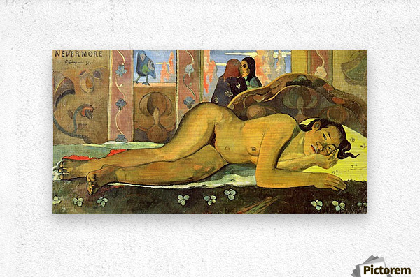 Nevermore by Gauguin  Metal print