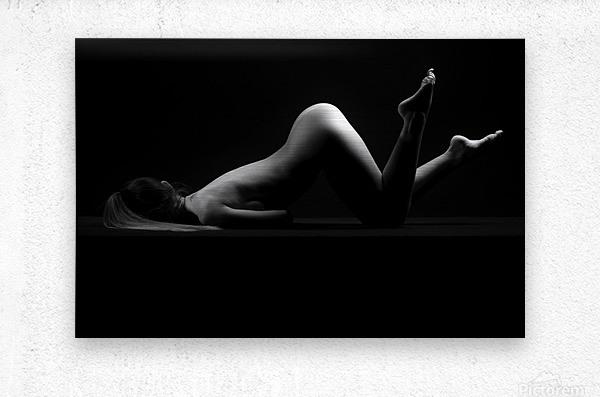 sensual_woman_nude_sexy_girl_laying_down_sleeping  Metal print