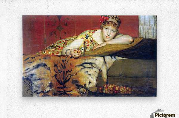 A craving for cherries by Alma-Tadema  Metal print