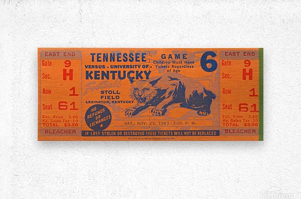 Vintage Kentucky Wildcats Football Ticket Art  Metal print