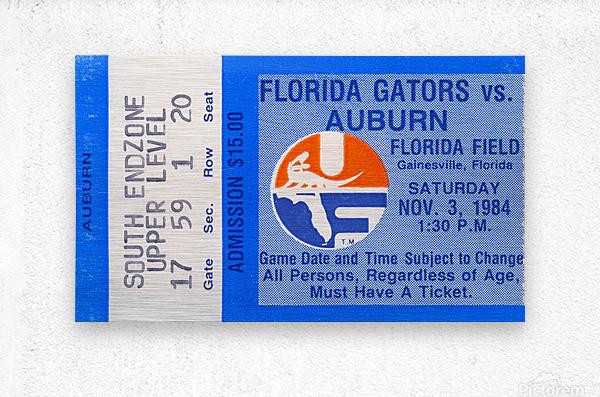 1984 Florida vs. Auburn  Metal print