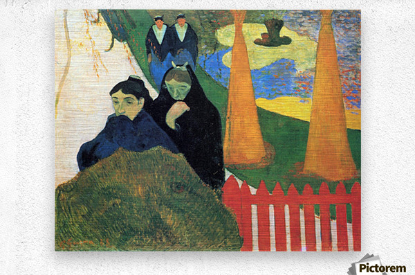 Old Maids in a Winter Garden - Arles by Gauguin  Metal print