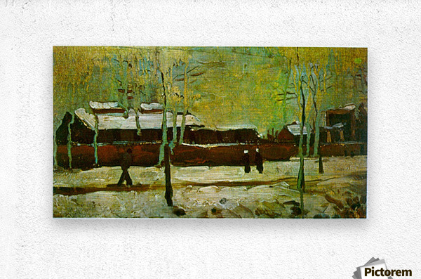 Old Station by Van Gogh  Metal print
