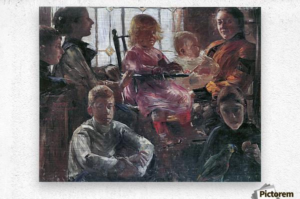Hull family by Lovis Corinth  Metal print