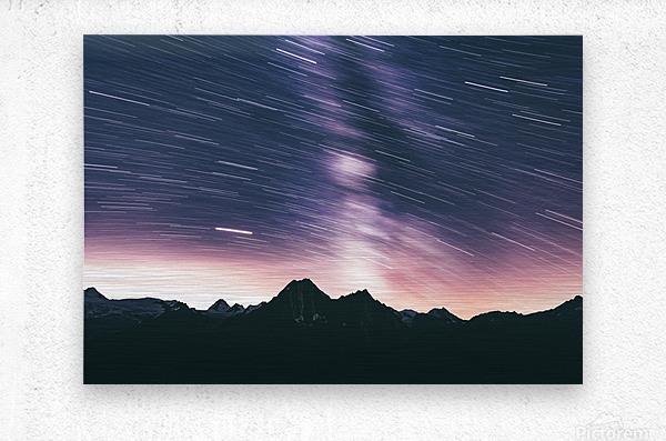 Moving stars  Metal print