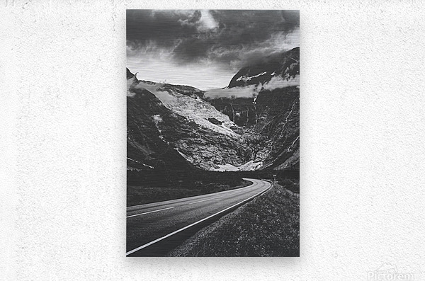 Into the wall of ice  Metal print