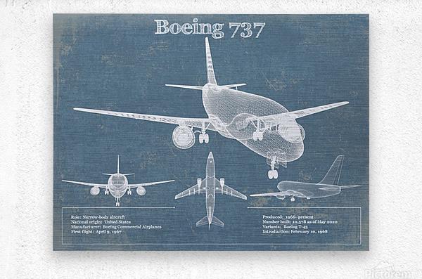 737  Metal print