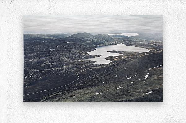 Lake stain  Metal print