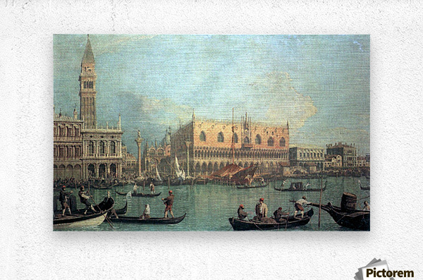 Palazzo Ducale by Canaletto  Metal print