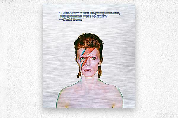 David Bowie Ziggy Stardust  Metal print