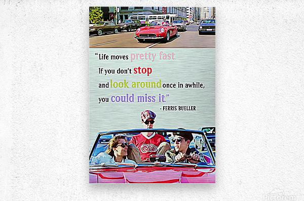 Ferris Bueller Day Off  Metal print