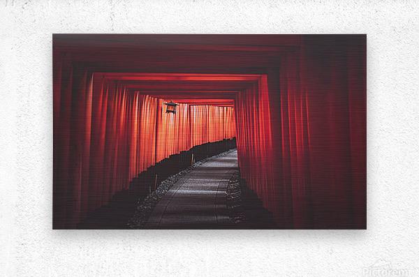 Fushimi red  Metal print