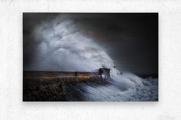 Hurricane Ophelia at Porthcawl  Metal print