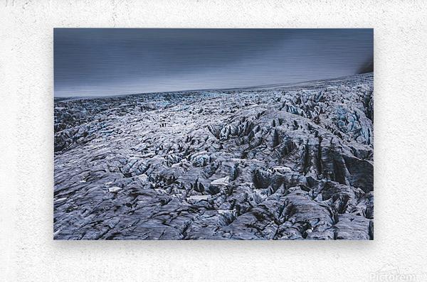 Field of ice  Metal print