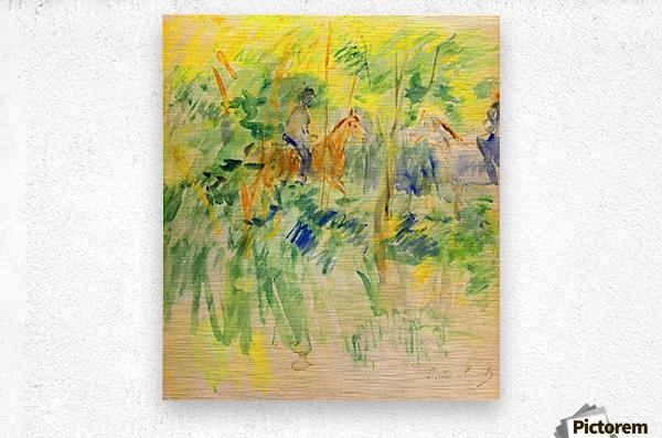 Path in Bois de Boulogne by Morisot  Metal print