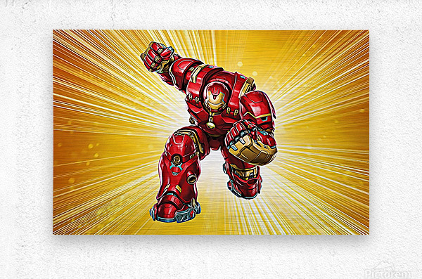 Ironman Hulkbuster  Metal print