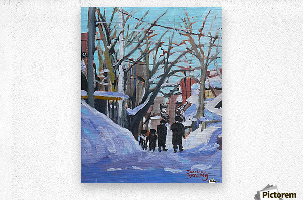 Montreal Winter Outremont  Metal print