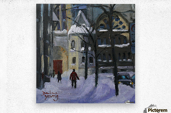 Montreal Downtown Scene, Drummond Winter  Metal print