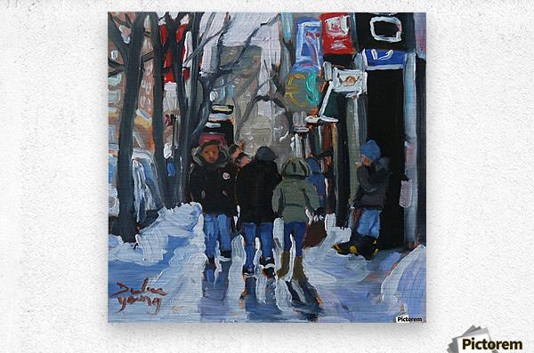 Montrel winter Scene, Ste-Catherine  Metal print