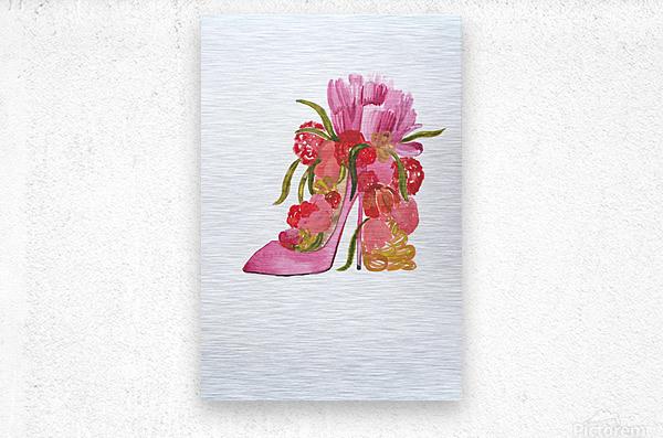 Flower heel  Metal print
