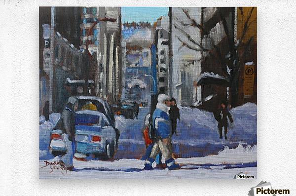 Montreal Winter Scene, Drummond  Metal print