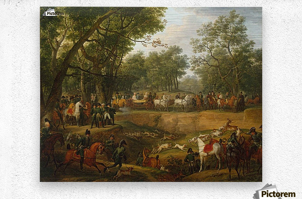 Napoleon on a Hunt in the Forest of Compiegne  Metal print