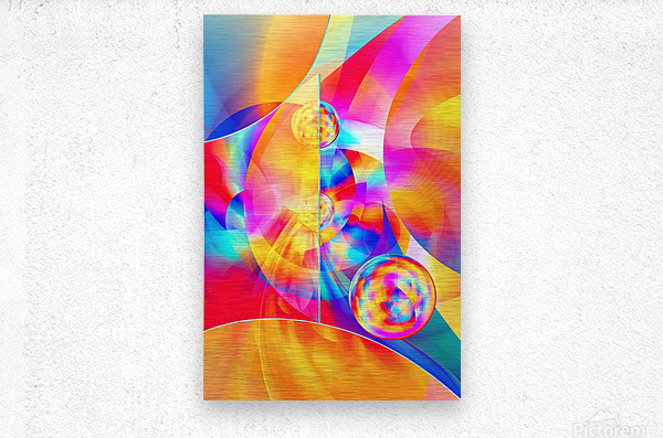 4th Dimension -Abstract Art XVII  Metal print