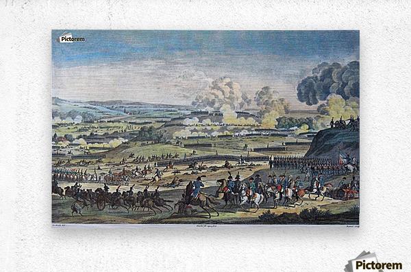 Le bataille de Jena  Metal print