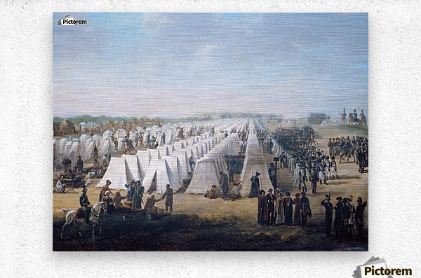 Army Camp in Rows 1831  Metal print