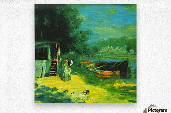 Place for Bading by Renoir  Metal print