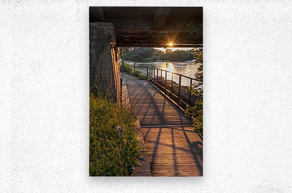 BridgeBoardwalk  Impression metal