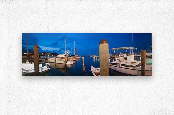 Key West Marina at Dusk  Metal print