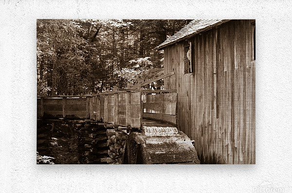 The John Cable Grist Mill  Metal print