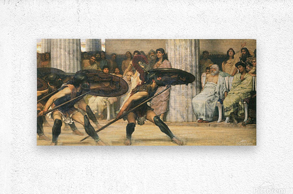 A dance for Phyrrus by Alma-Tadema  Metal print
