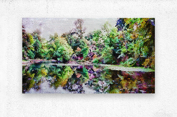 Fall Lake Reflections  Metal print