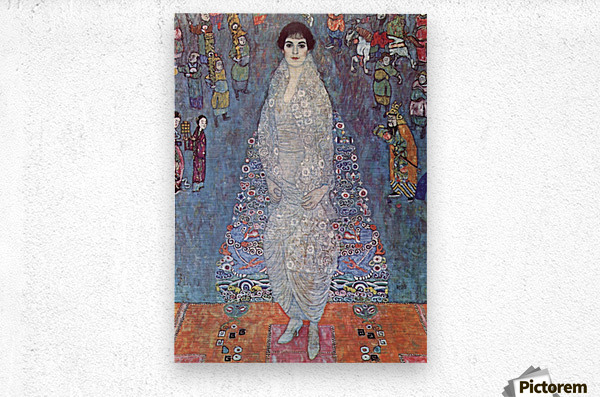 Portrait of Baroness Elisabeth Bachofen by Klimt  Metal print