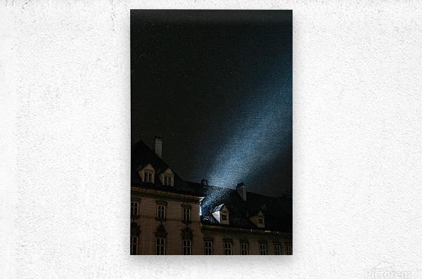 Snow by night  Metal print