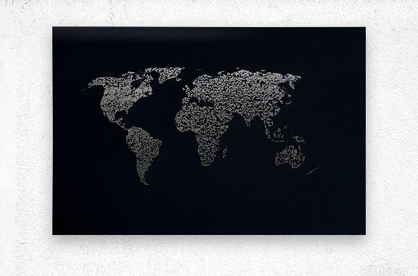Dark Continent Ifren  Metal print