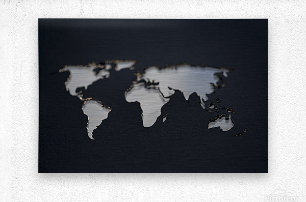 Dark Continent GoGo  Metal print