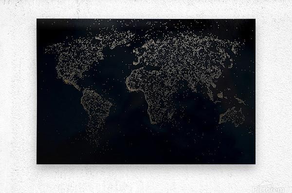 Dark Continent Milina  Metal print