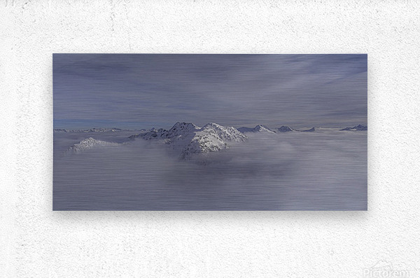 heli ski in the kootenays  Metal print